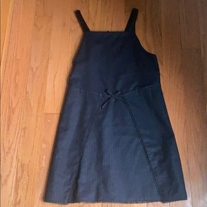 Navy dress with tie in front!